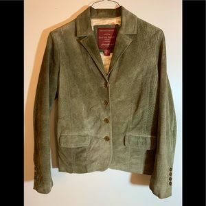 Eddie Bauer washable suede 4 button jacket, XLTALL